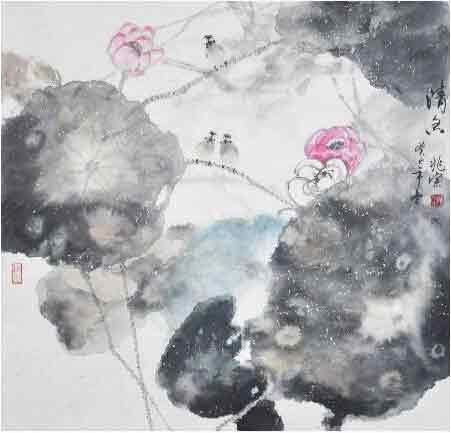 鸟语花香溢馨香 我的艺术网李兆宗国画花鸟