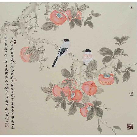 花香氤氲智慧语 中艺博雅魏国国画花鸟