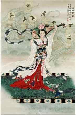 指尖凝香琴瑟起 我的艺术网王洪超国画人物
