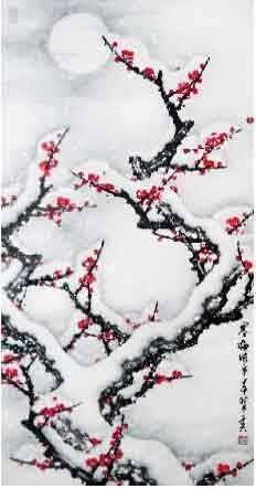 一纸挥洒芬芳溢 我的艺术网于夫国画花鸟