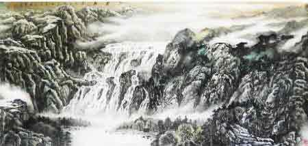 浩瀚山水皆空靈 我的藝術網尹鳳庚國畫山水
