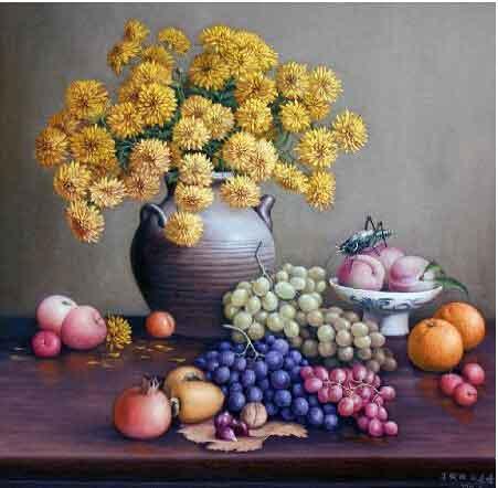 典藏美化皆相宜 我的艺术网刘建峰静物油画