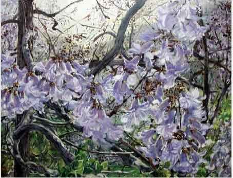 花影缤纷香满天 我的艺术网徐立峰风景油画