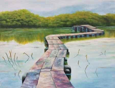 天开图画好风日 我的艺术网景军辉风景油画