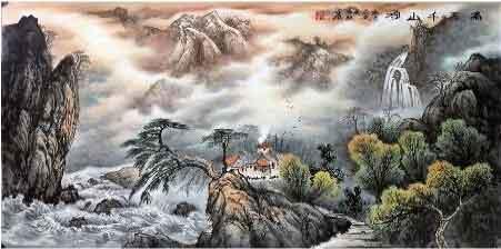 朝翔素濑幽篁里,我的艺术网殷瑞强国画山水