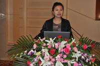 苏州协昌环保科技有限公司副总工程师陆亚萍女士做专题报告发言