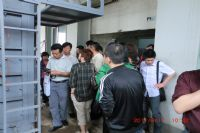 工程质量现场参观物理所节能检测设备